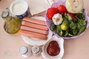 Хот-дог в лаваше: Ингредиенты