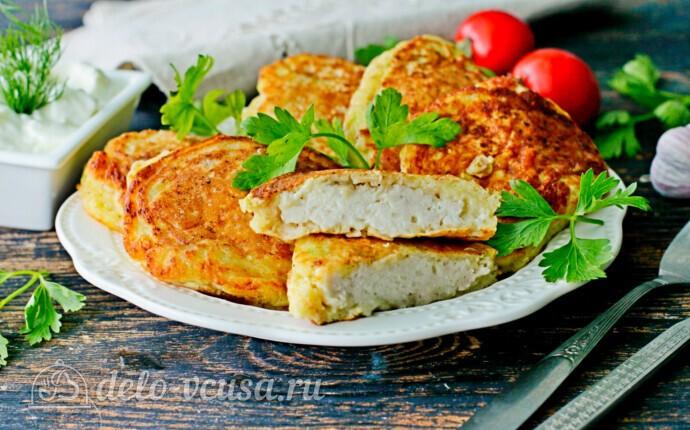 Колдуны из кабачков с куриным филе