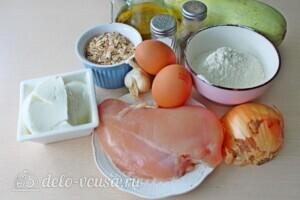 Колдуны из кабачков с куриным филе: Ингредиенты