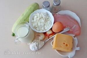 Низкокалорийная лазанья из кабачков с курицей: Ингредиенты