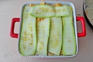 Низкокалорийная лазанья из кабачков с курицей: фото к шагу 15.