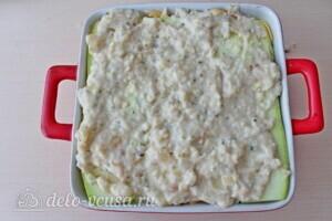 Низкокалорийная лазанья из кабачков с курицей: фото к шагу 16.