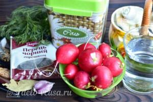 Маринованный редис на зиму: Ингредиенты