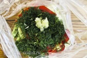 Низкокалорийный малосольный салат: фото к шагу 4.