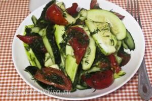 Низкокалорийный малосольный салат: фото к шагу 7.