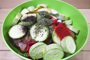 Куриное филе с овощами в рукаве: фото к шагу 9.