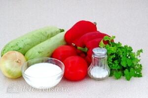 Овощи тушеные в сметане в микроволновке: Ингредиенты