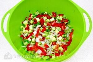 Овощи тушеные в сметане в микроволновке: фото к шагу 4.