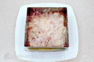 Овощной салат-торт с жареными кабачками: фото к шагу 22.