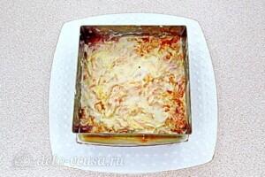 Овощной салат-торт с жареными кабачками: фото к шагу 24.