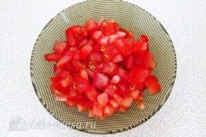 Овощной салат-торт с жареными кабачками: фото к шагу 9.