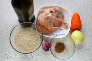 Быстрый плов с курицей в кастрюле: Ингредиенты