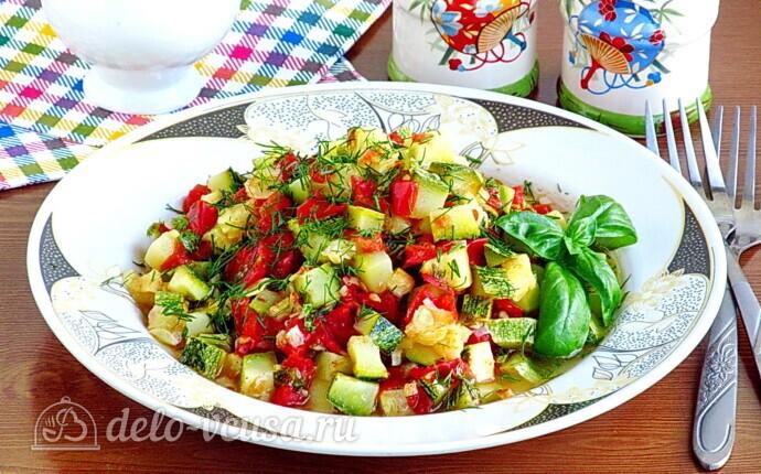 Рагу из овощей по-сербски в микроволновке