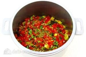 Рагу из овощей по-сербски в микроволновке: фото к шагу 11.