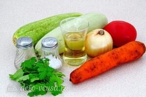 Салат Дачный перекус из жареных кабачков: Ингредиенты