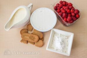 Семифредо из макарпоне с малиной и печеньем: Ингредиенты