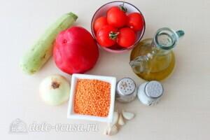 Суп-пюре из чечевицы с овощами: Ингредиенты