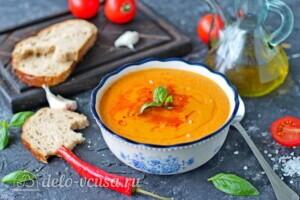 Суп-пюре из чечевицы с овощами: фото к шагу 10.