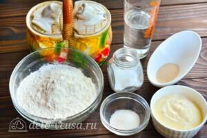 Тесто для беляшей на майонезе: Ингредиенты