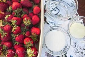 Низкокалорийное желе из свежей клубники: Ингредиенты