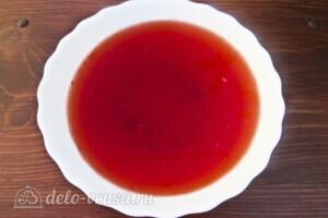 Низкокалорийное желе из свежей клубники: фото к шагу 3.