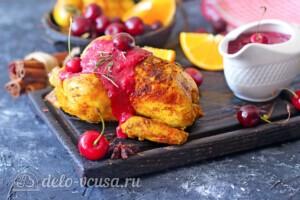 Цыпленок запеченный в апельсинах с вишневым соусом: фото к шагу 9