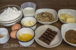 Булка с шоколадом и орехами: Ингредиенты