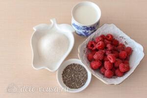 Чиа пудинг с малиной: Ингредиенты