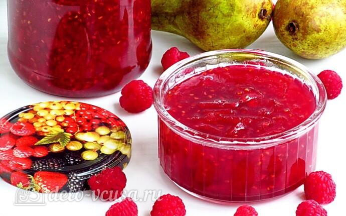 Рецепт джем из груш и малины