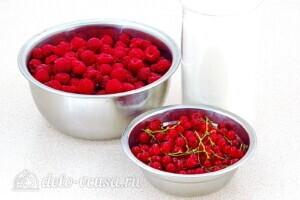 Джем из малины на смородиновом соке: Ингредиенты