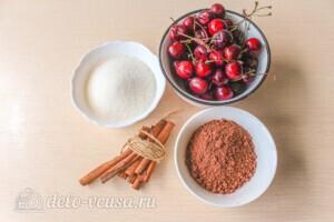 Вишневое варенье с корицей и какао: Ингредиенты