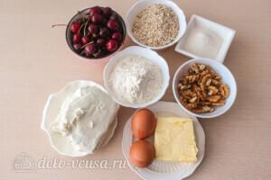 Крамбл с творогом и вишней: Ингредиенты