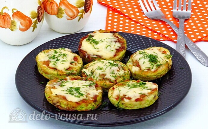 Рецепт кабачки-бублики с мясом и грибами