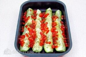 Кабачки с сыром и прованскими травами: фото к шагу 6.