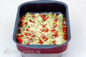 Кабачки с сыром и прованскими травами: фото к шагу 8.