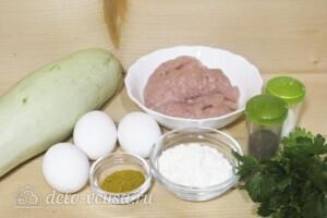 Кабачковые оладьи с куриным фаршем: Ингредиенты