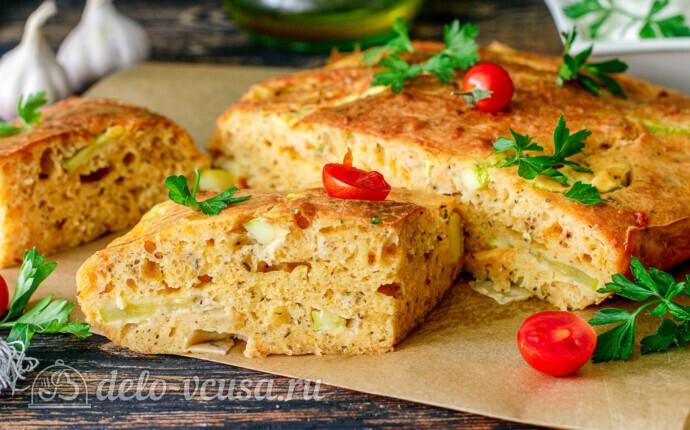 Пирог с кабачками и сыром