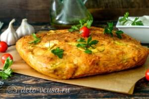 Пирог с кабачками и сыром: фото к шагу 8.