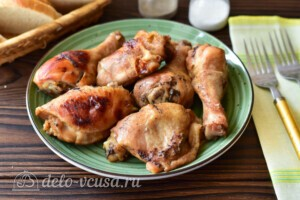 Курица в рукаве в медово-соевом соусе: фото к шагу 7.