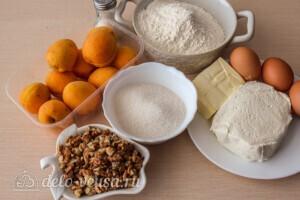 Абрикосовый насыпной пирог с творогом: Ингредиенты