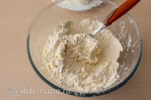 Абрикосовый насыпной пирог с творогом: фото к шагу 1.