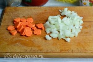 Перловка с фаршем и овощами: фото к шагу 1.