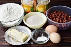 Песочные кольца с орехами: Ингредиенты