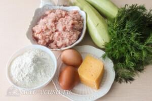 Пирог-запеканка из кабачков с фрикадельками: Ингредиенты
