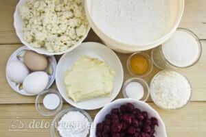 Пирог Блаженство с творогом и вишней: Ингредиенты