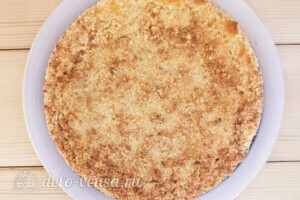 Пирог Блаженство с творогом и вишней: фото к шагу 17