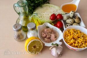Салат из капусты с тунцом и кукурузой: Ингредиенты