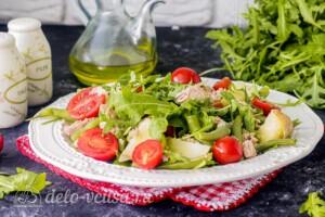 Салат с тунцом, молодым картофелем и зеленой фасолью: фото к шагу 8.