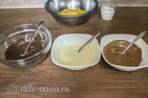 Семифредо Три шоколада: фото к шагу 1.