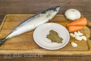 Скумбрия-лодочка с овощами и соусом Песто: Ингредиенты